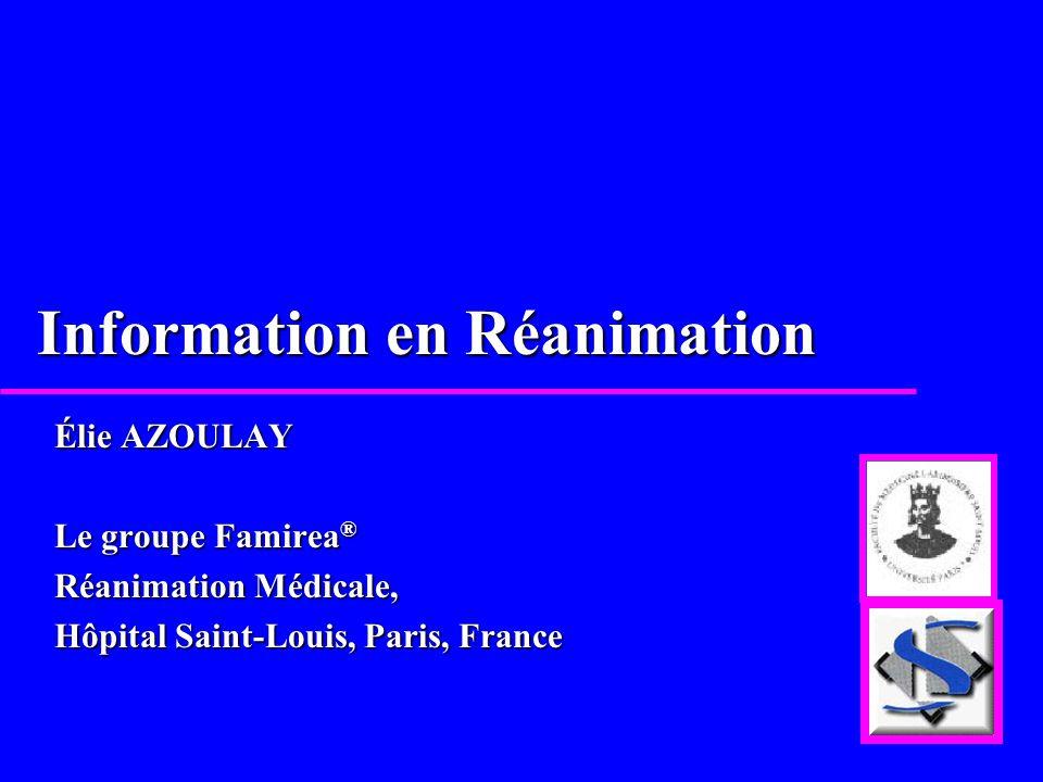 Information en Réanimation