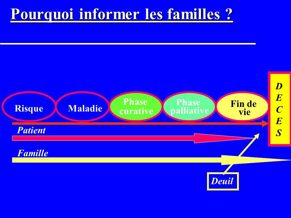 Pourquoi informer les familles