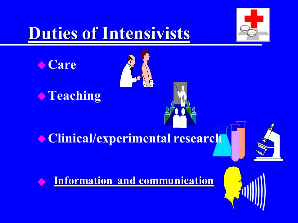 Duties of Intensivists