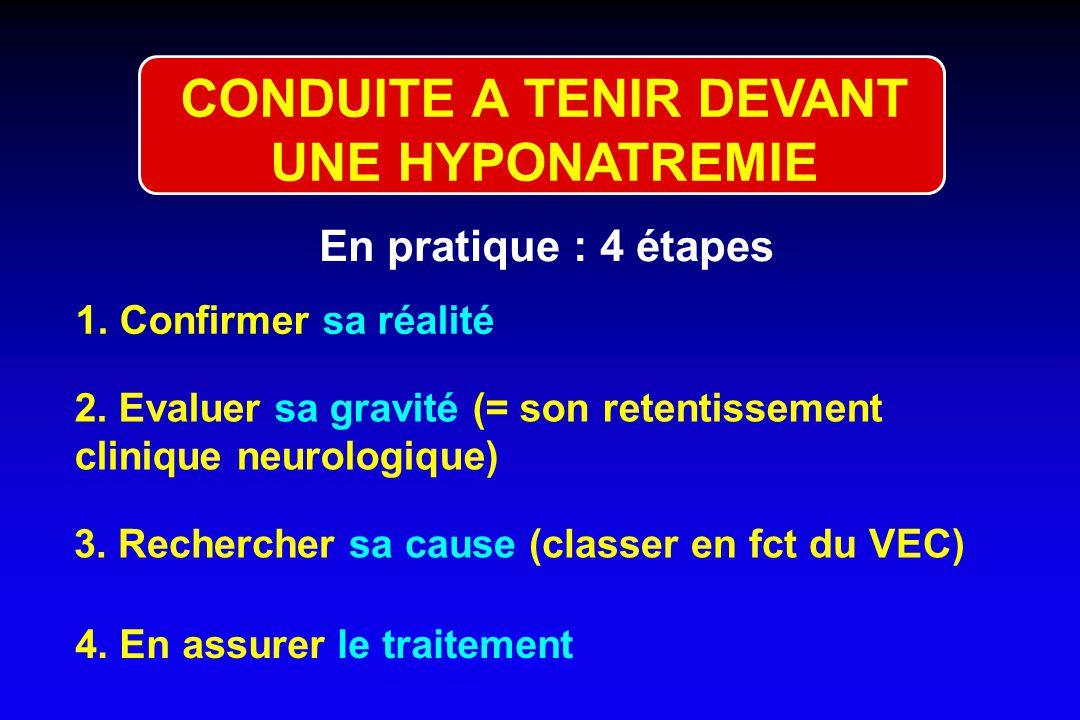 CONDUITE A TENIR DEVANT UNE HYPONATREMIE