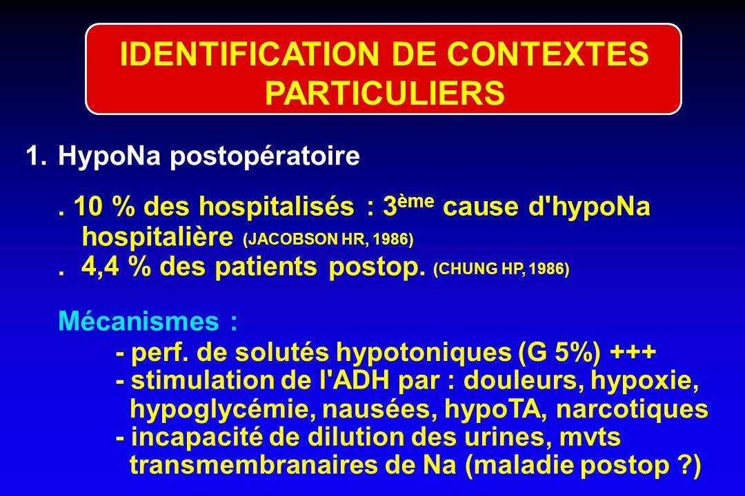 IDENTIFICATION DE CONTEXTES PARTICULIERS