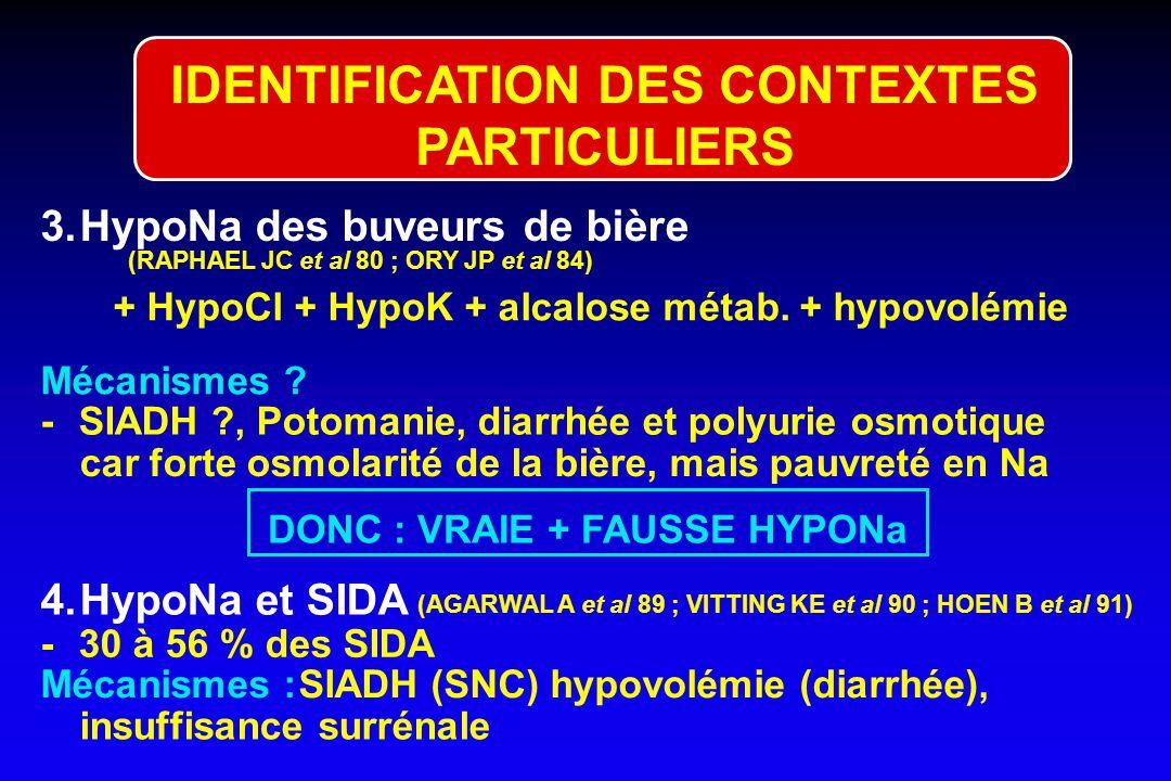 IDENTIFICATION DES CONTEXTES PARTICULIERS