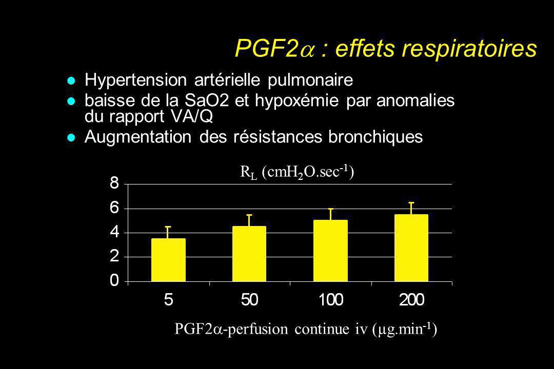 PGF2 : effets respiratoires