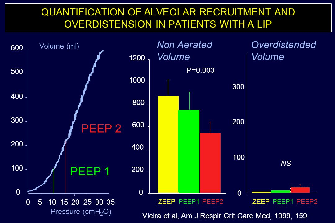 QUANTIFICATION OF ALVEOLAR RECRUITMENT AND OVERDISTENSION IN PATIENTS WITH A LIP