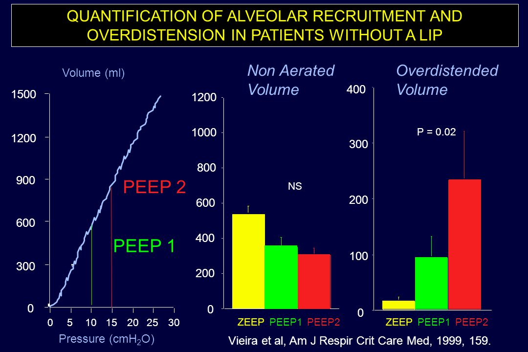 QUANTIFICATION OF ALVEOLAR RECRUITMENT AND OVERDISTENSION IN PATIENTS WITHOUT A LIP