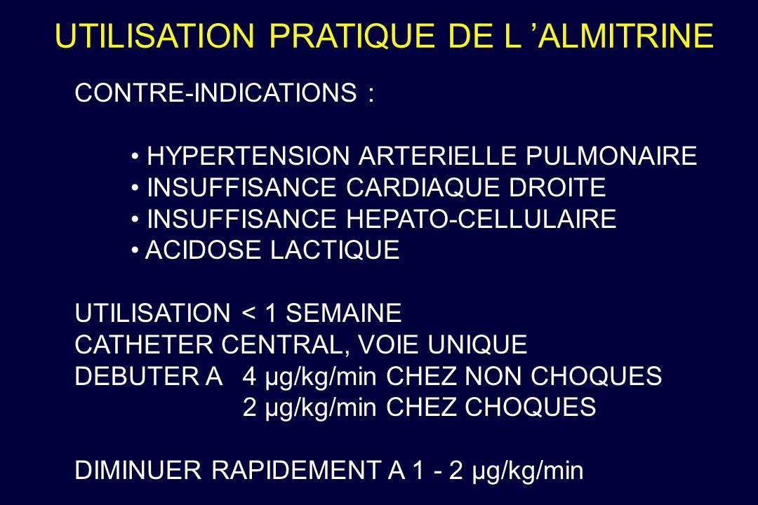 UTILISATION PRATIQUE DE L 'ALMITRINE