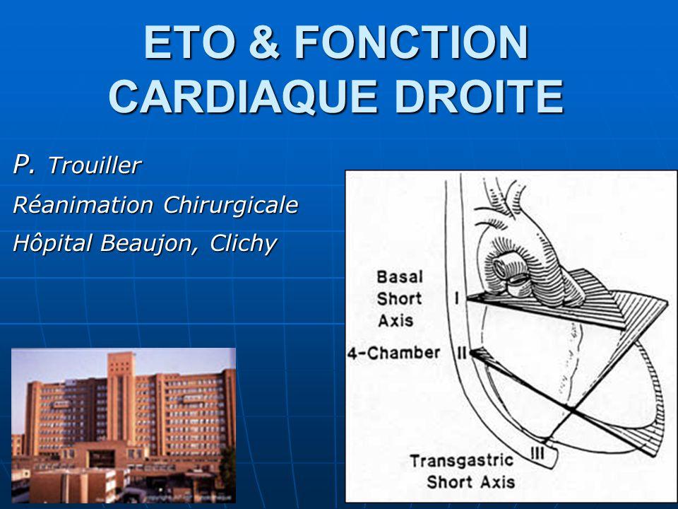 ETO & FONCTION CARDIAQUE DROITE
