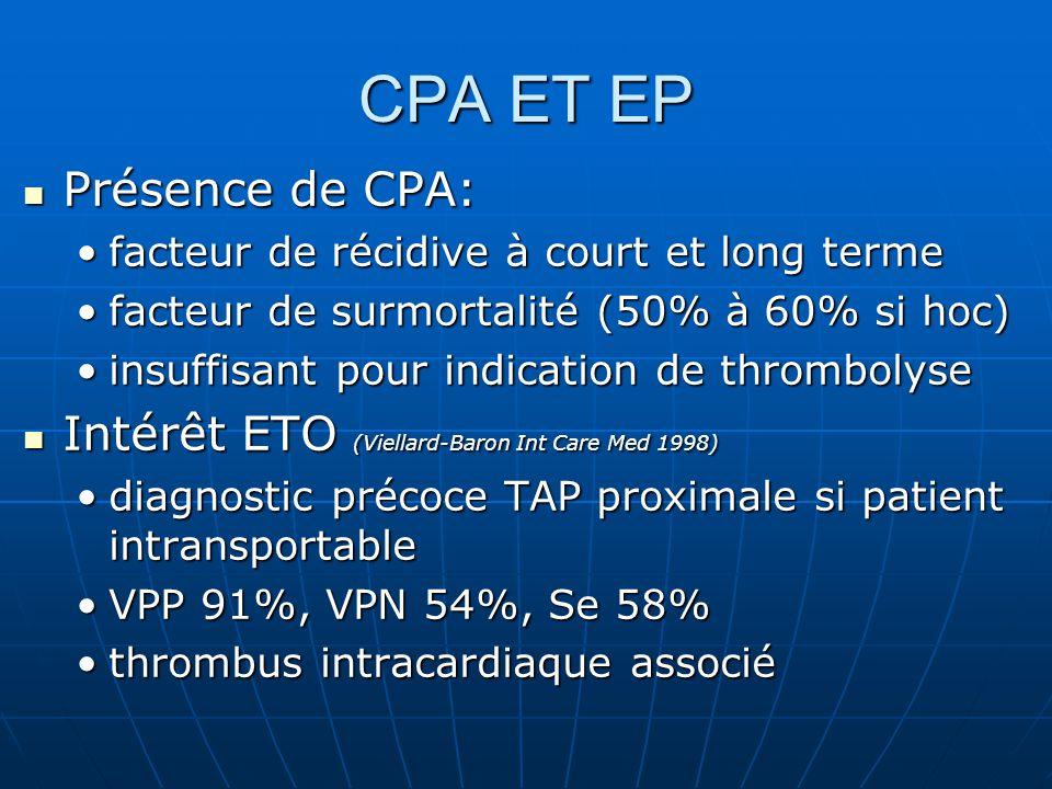 CPA ET EP Présence de CPA: