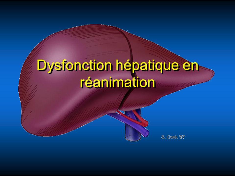 Dysfonction hépatique en réanimation