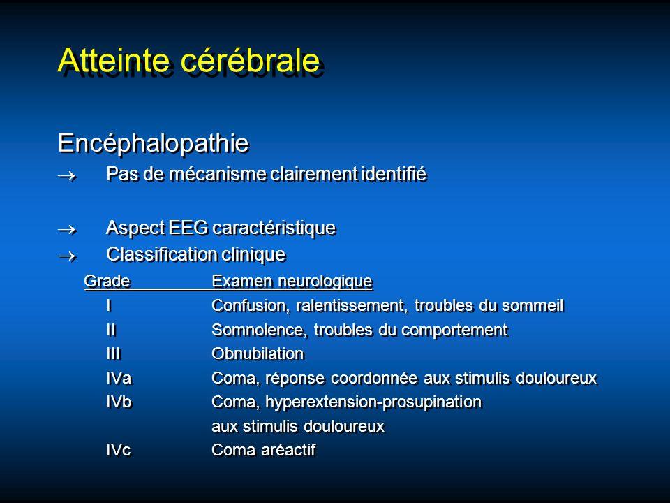 Atteinte cérébrale Encéphalopathie