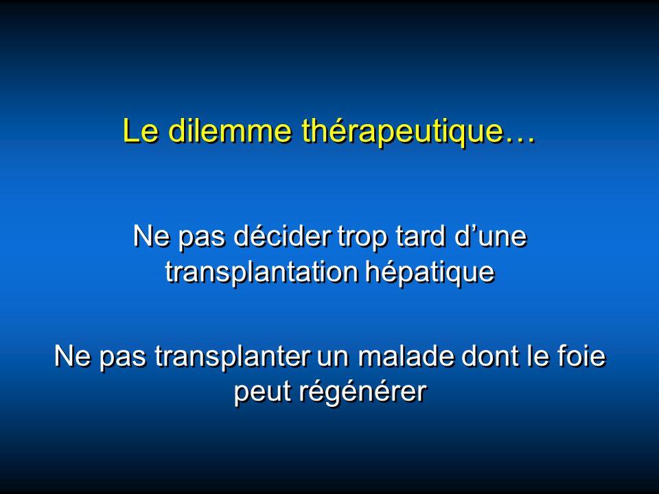 Le dilemme thérapeutique…