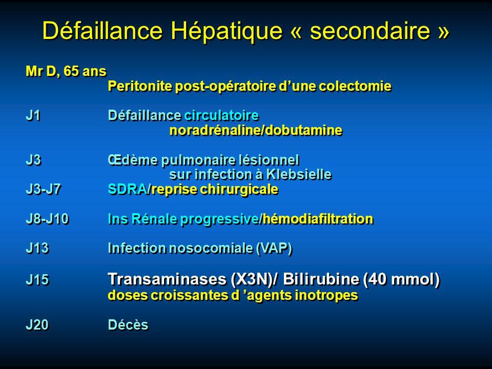 Défaillance Hépatique « secondaire »