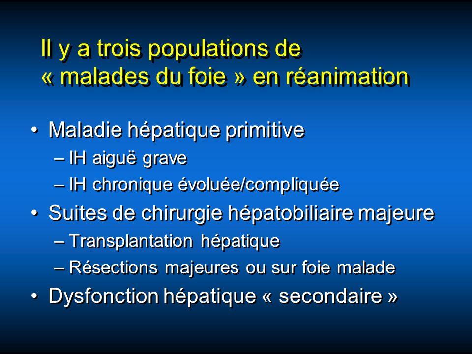 Il y a trois populations de « malades du foie » en réanimation