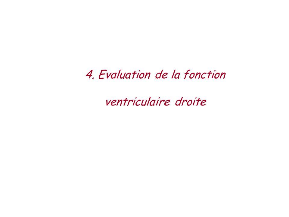4. Evaluation de la fonction ventriculaire droite