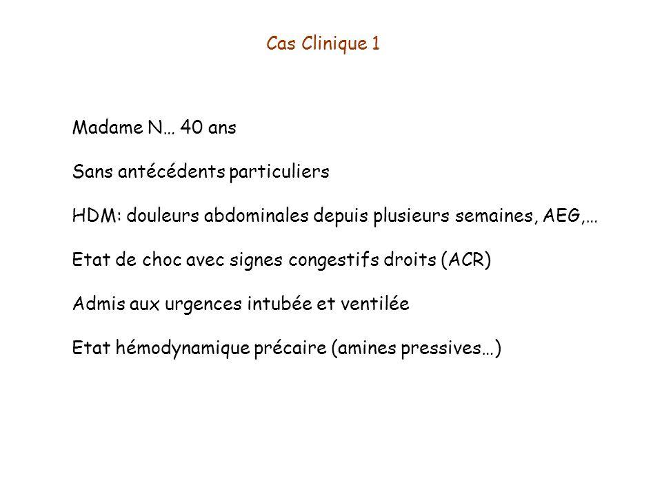 Cas Clinique 1 Madame N… 40 ans. Sans antécédents particuliers. HDM: douleurs abdominales depuis plusieurs semaines, AEG,…