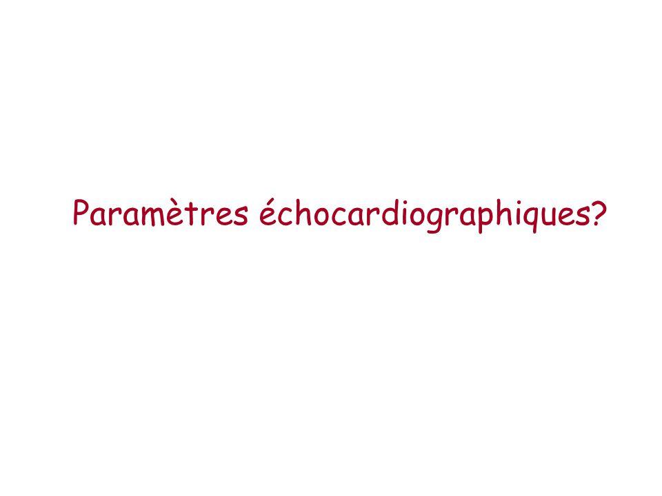 Paramètres échocardiographiques