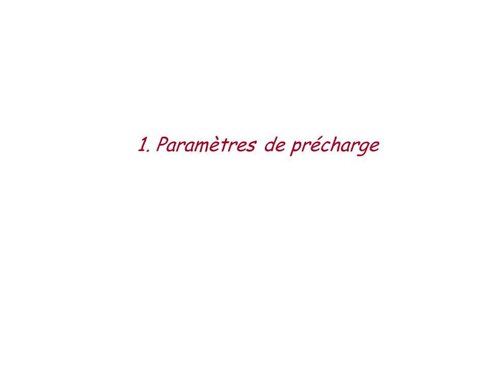 1. Paramètres de précharge