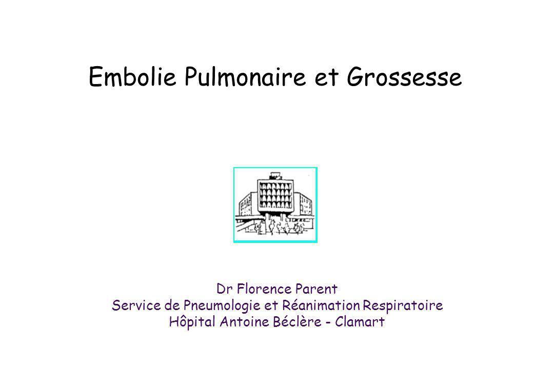 Embolie Pulmonaire et Grossesse