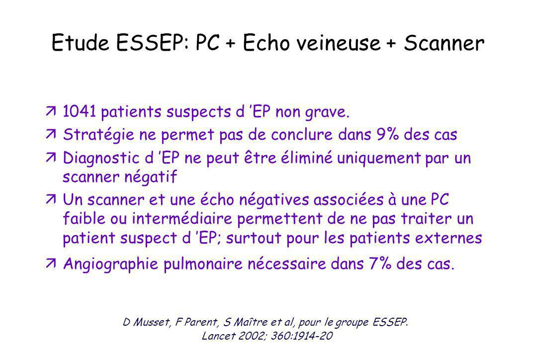 Etude ESSEP: PC + Echo veineuse + Scanner