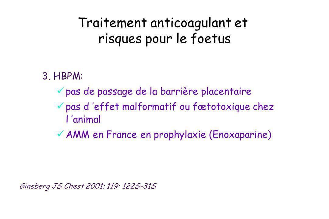 Traitement anticoagulant et risques pour le foetus
