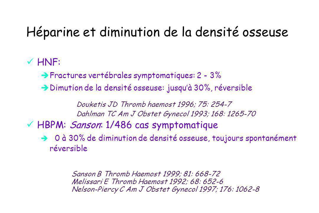 Héparine et diminution de la densité osseuse