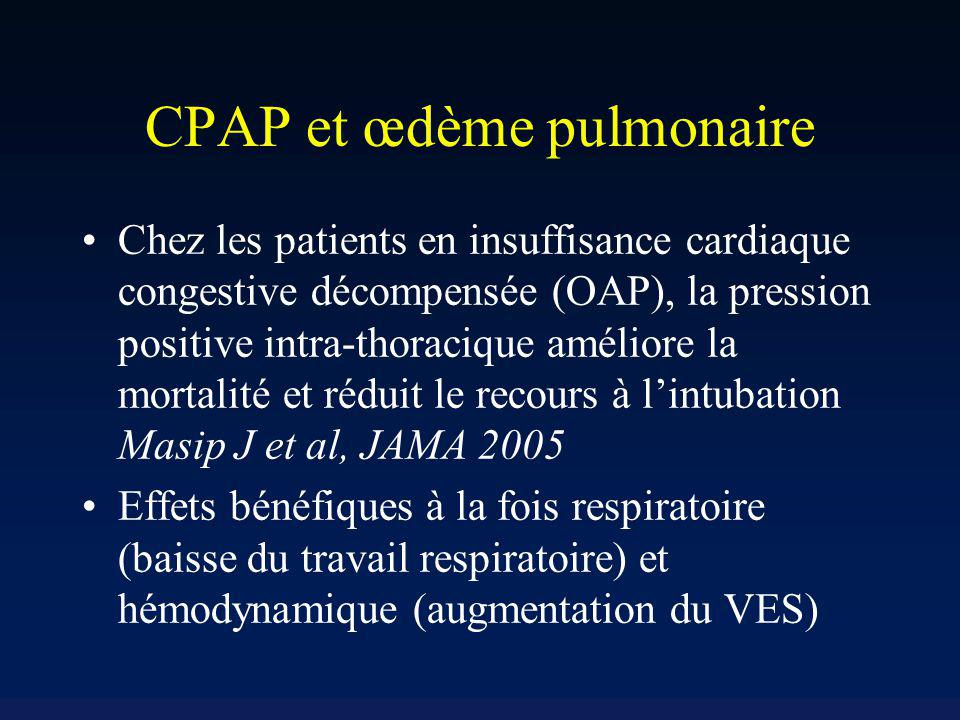 CPAP et œdème pulmonaire