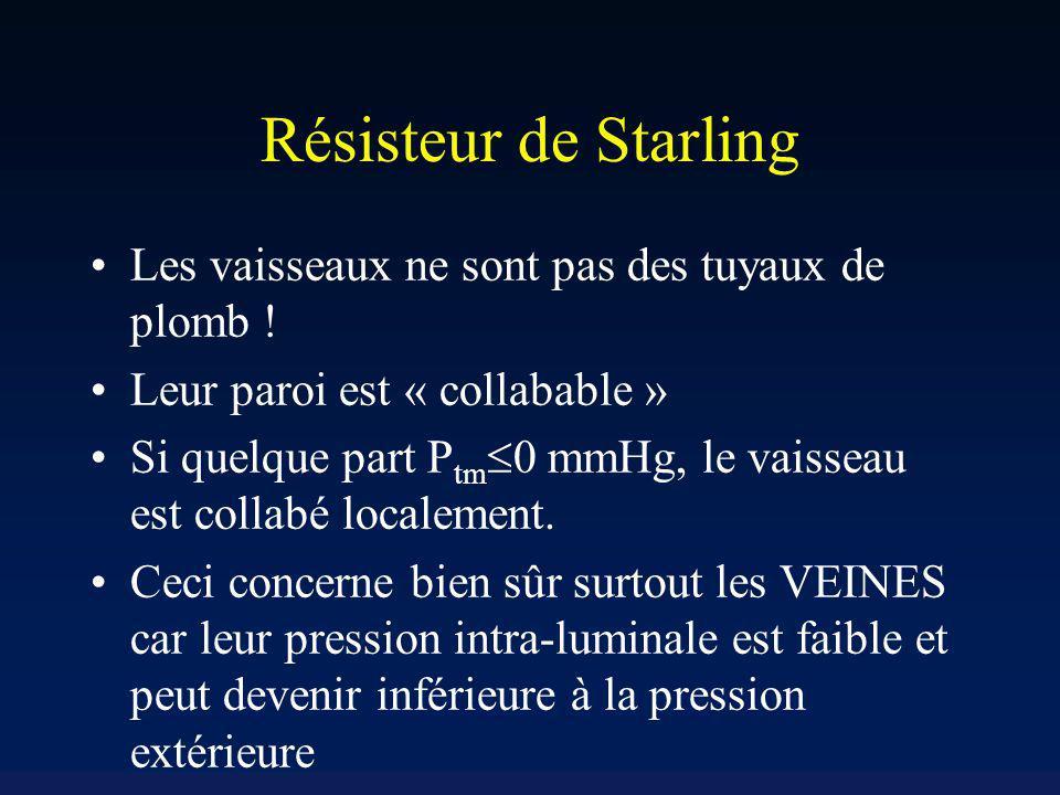 Résisteur de Starling Les vaisseaux ne sont pas des tuyaux de plomb !