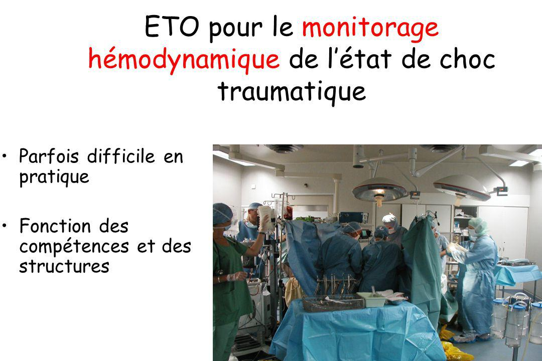 ETO pour le monitorage hémodynamique de l'état de choc traumatique
