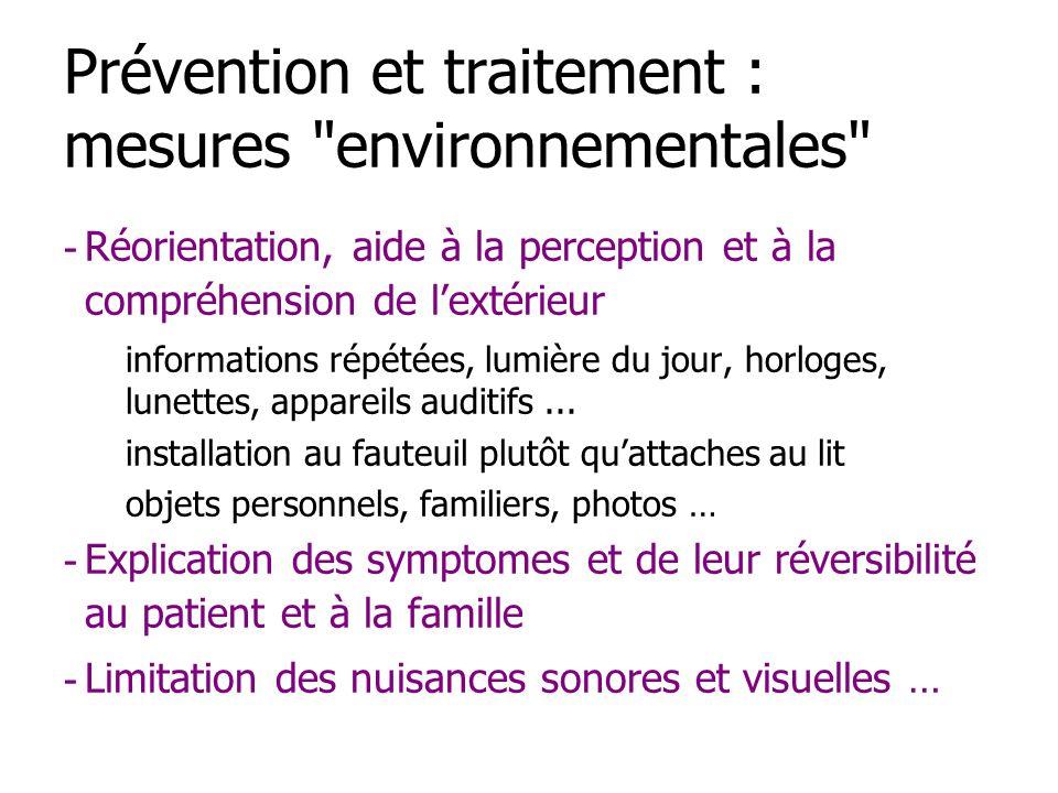Prévention et traitement : mesures environnementales