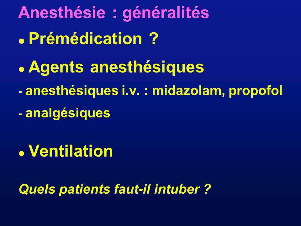 Anesthésie : généralités  Prémédication