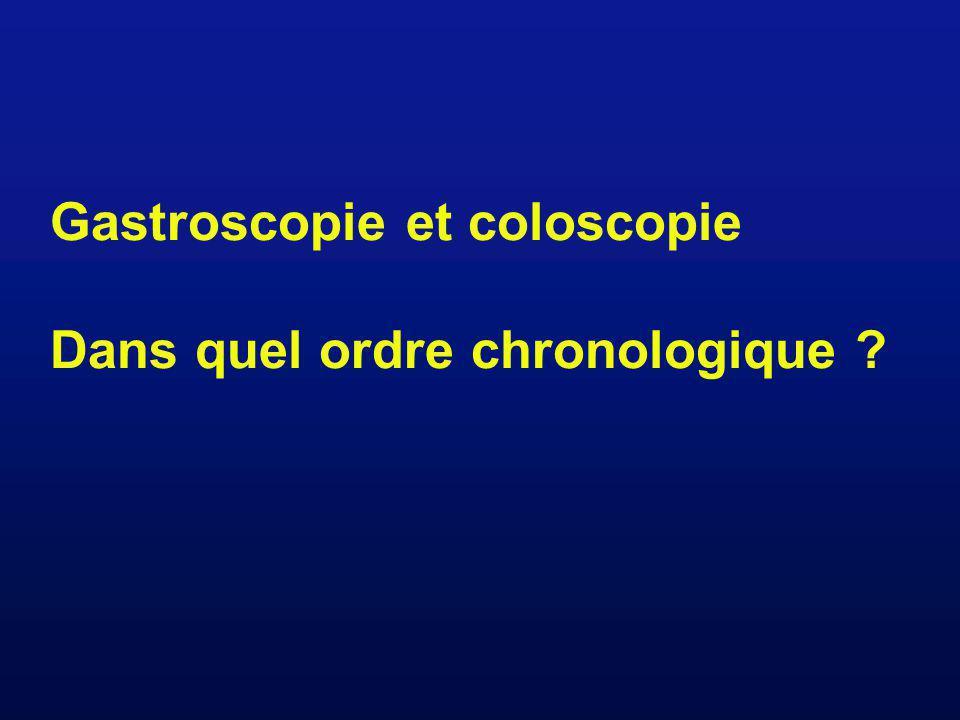 Gastroscopie et coloscopie Dans quel ordre chronologique