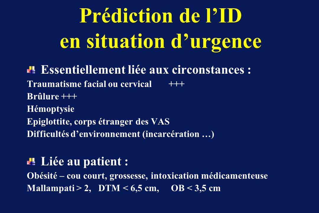 Prédiction de l'ID en situation d'urgence
