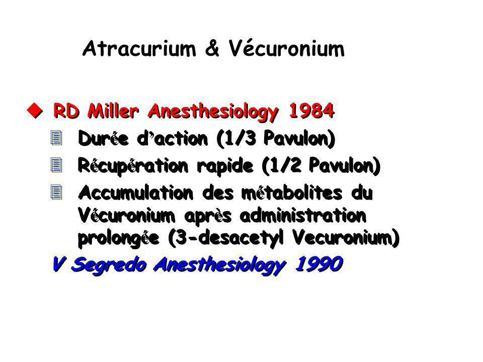 Atracurium & Vécuronium