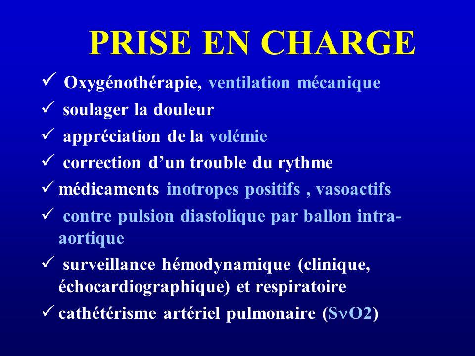 PRISE EN CHARGE Oxygénothérapie, ventilation mécanique