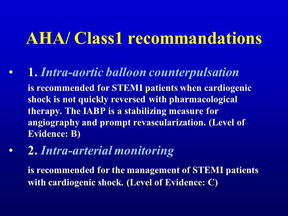 AHA/ Class1 recommandations