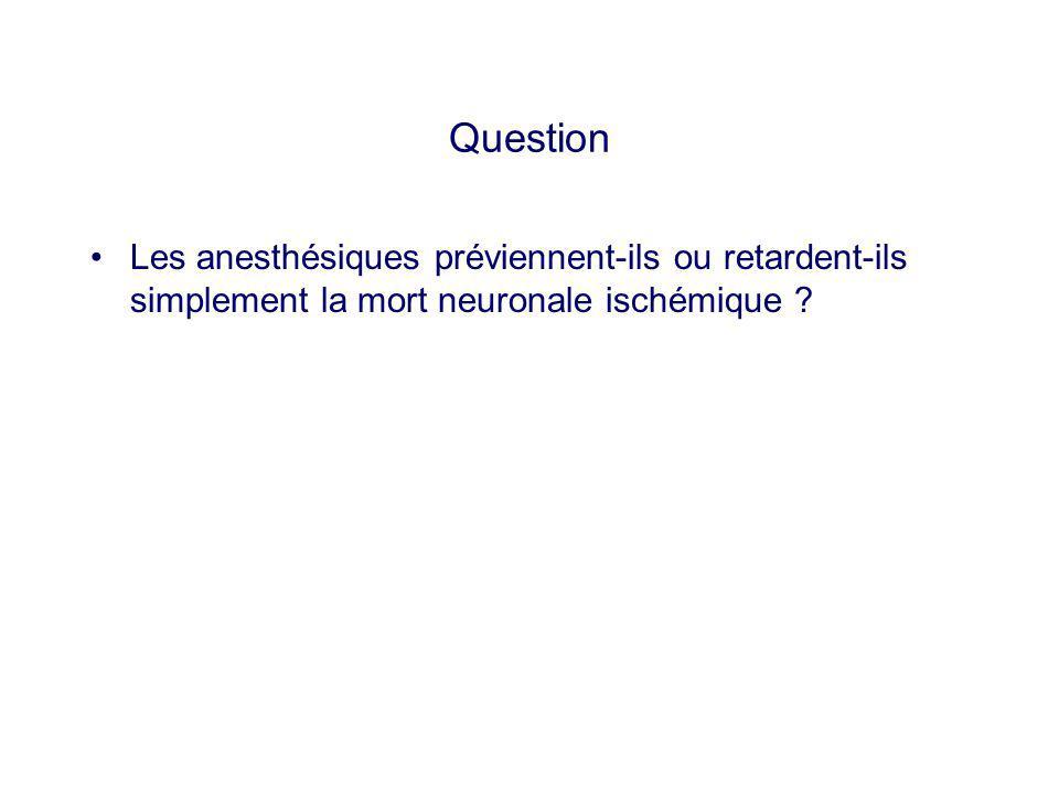 Question Les anesthésiques préviennent-ils ou retardent-ils simplement la mort neuronale ischémique