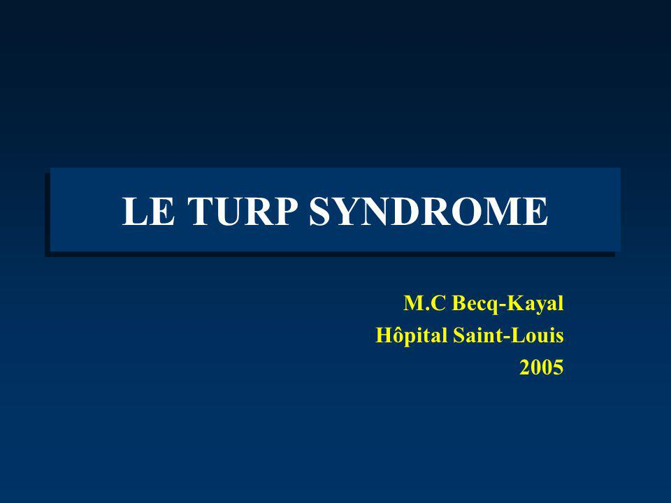 M.C Becq-Kayal Hôpital Saint-Louis 2005