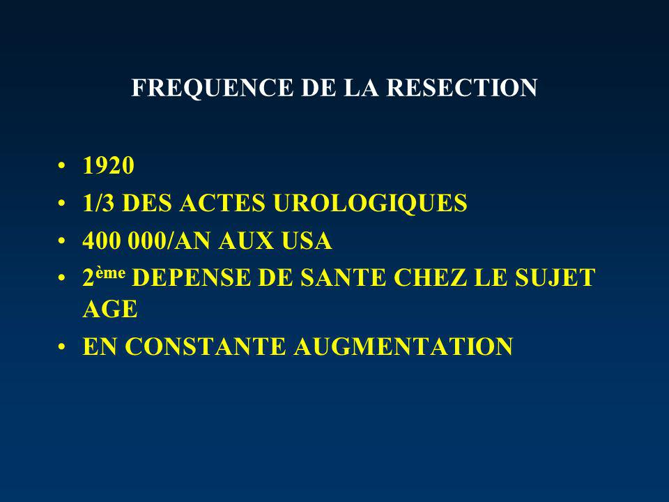 FREQUENCE DE LA RESECTION