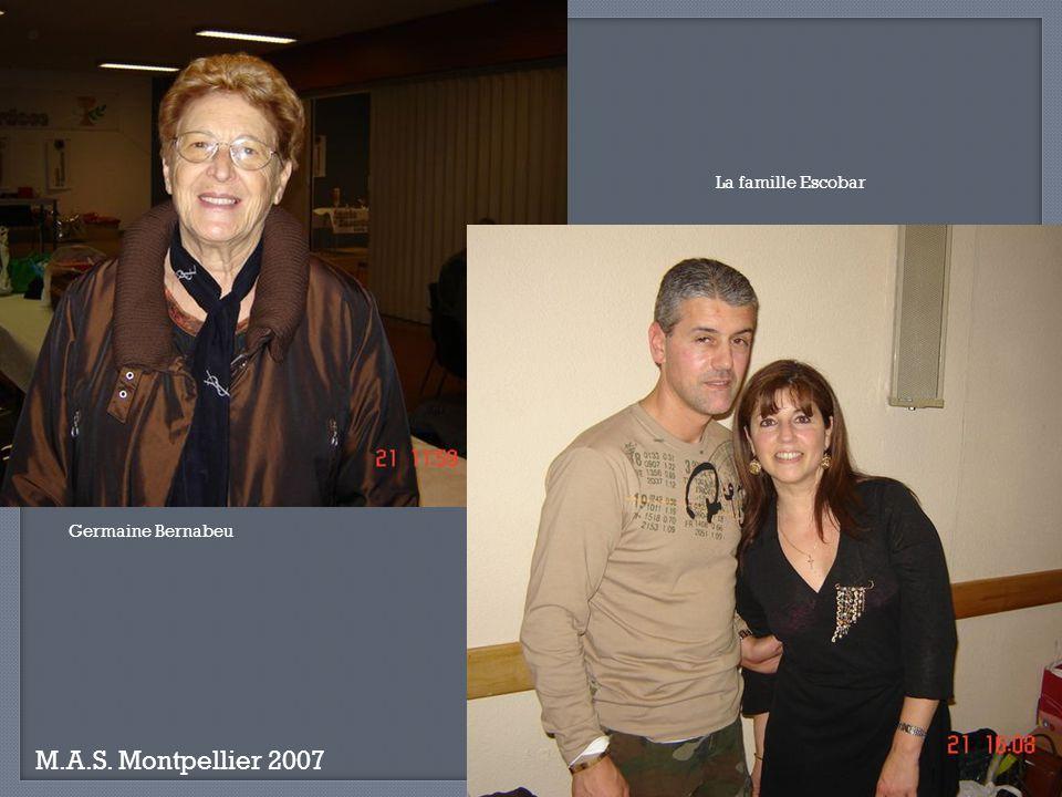 La famille Escobar Germaine Bernabeu M.A.S. Montpellier 2007