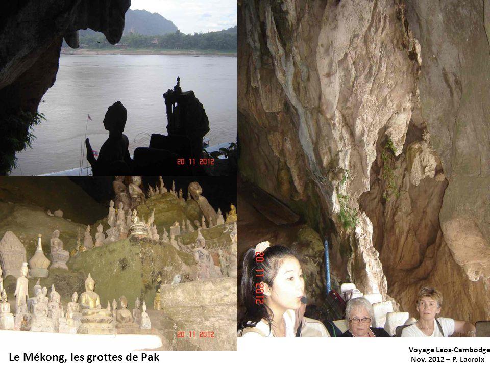 Le Mékong, les grottes de Pak