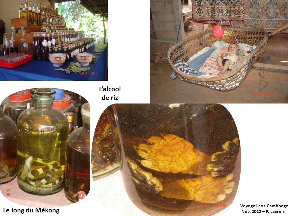 L'alcool de riz Le long du Mékong