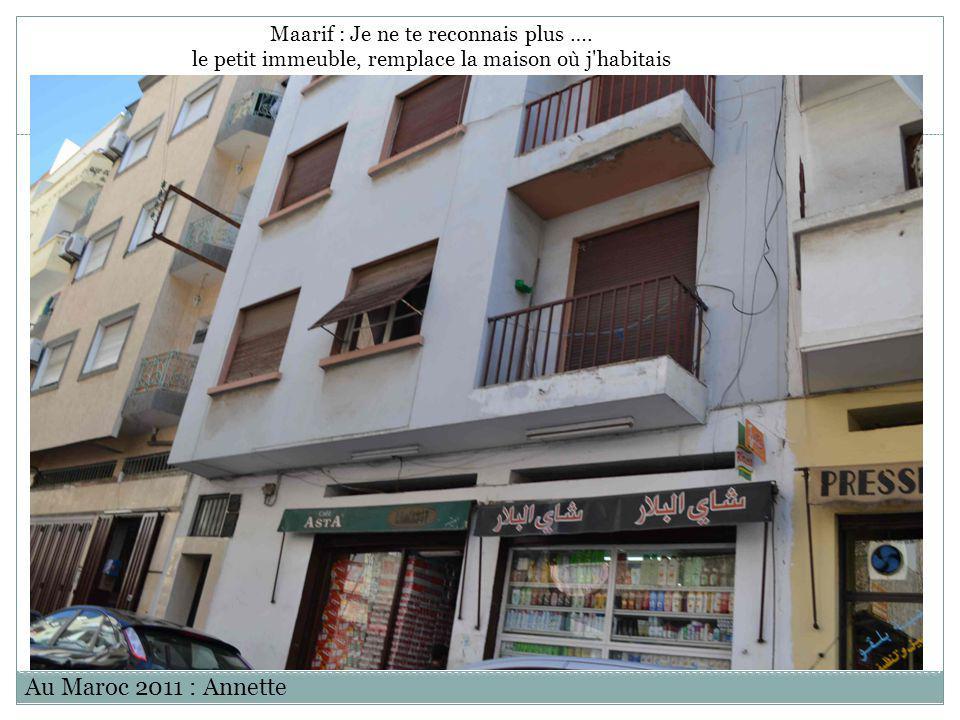 Au Maroc 2011 : Annette Maarif : Je ne te reconnais plus ….