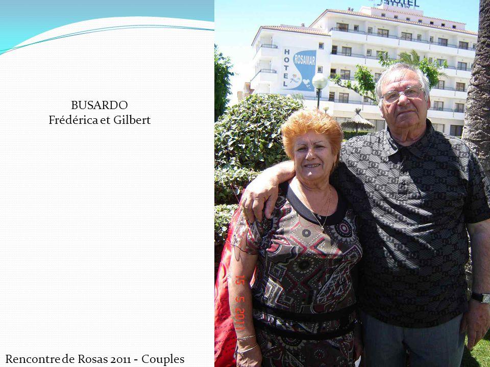 BUSARDO Frédérica et Gilbert Rencontre de Rosas 2011 - Couples