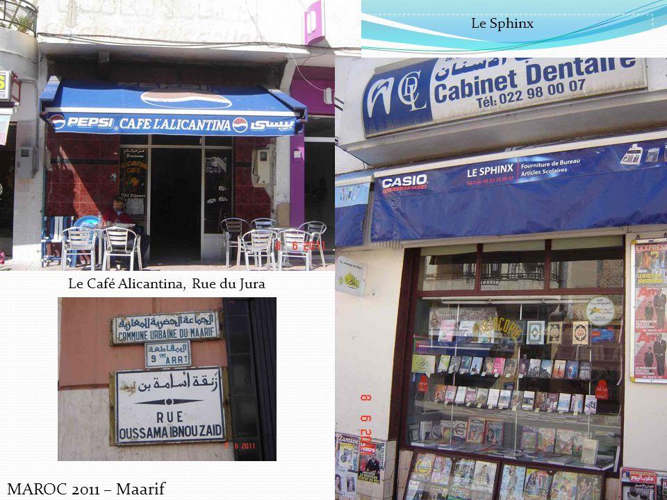 Le Café Alicantina, Rue du Jura