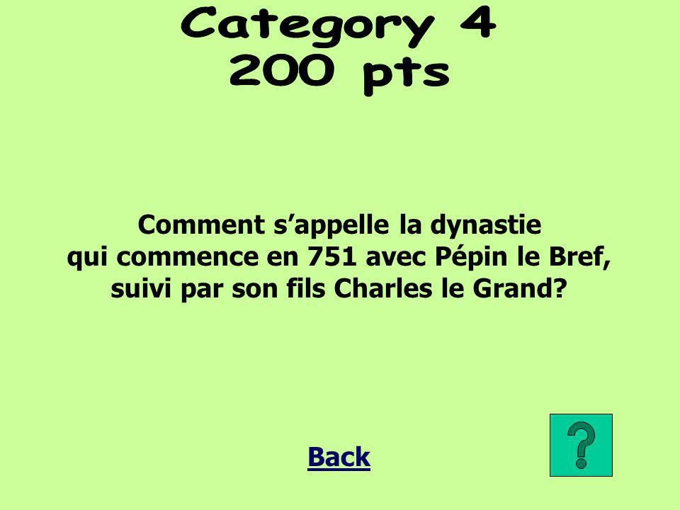 Category 4 200 pts Comment s'appelle la dynastie