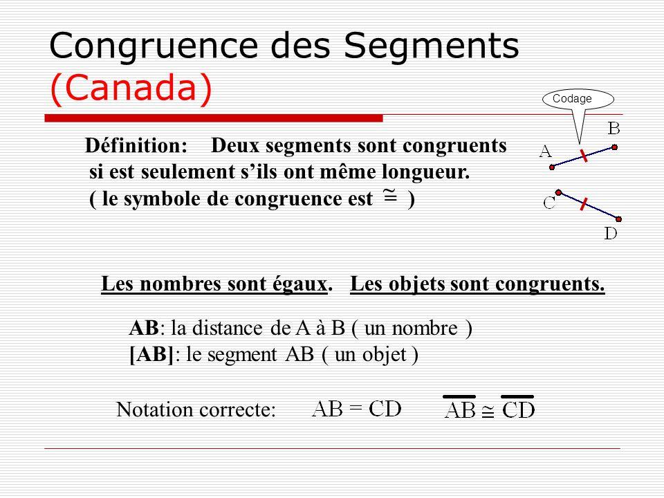 Congruence des Segments (Canada)