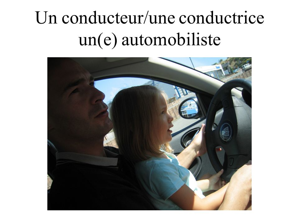 Un conducteur/une conductrice un(e) automobiliste