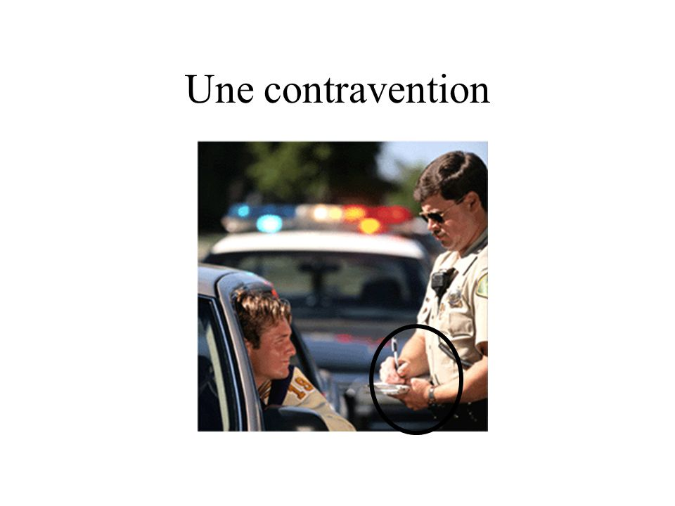 Une contravention