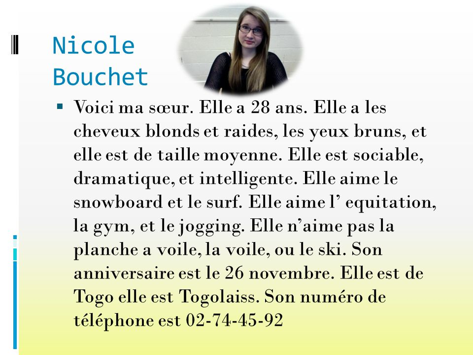 Nicole Bouchet