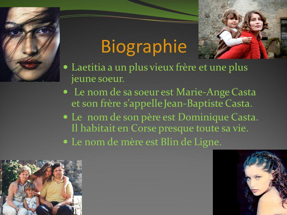 Biographie Laetitia a un plus vieux frère et une plus jeune soeur.